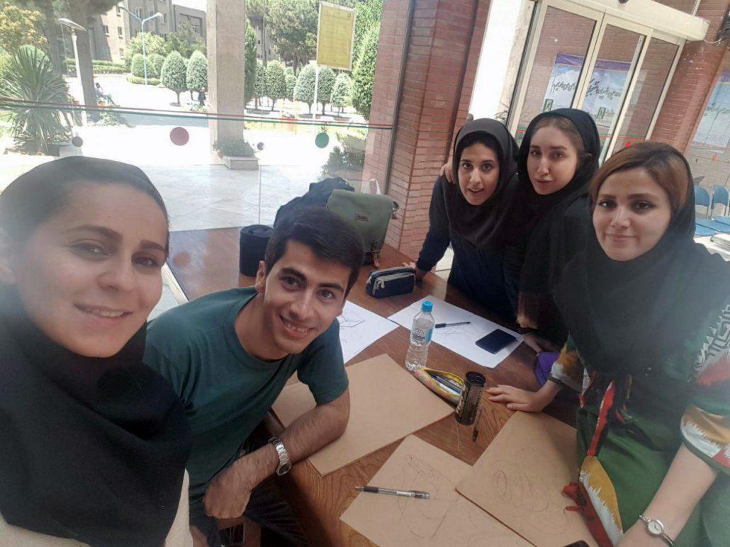 تمرین طراحی، بهار نجات، یاسر اکبری حامد، ریحانه مقدم، پرنیا