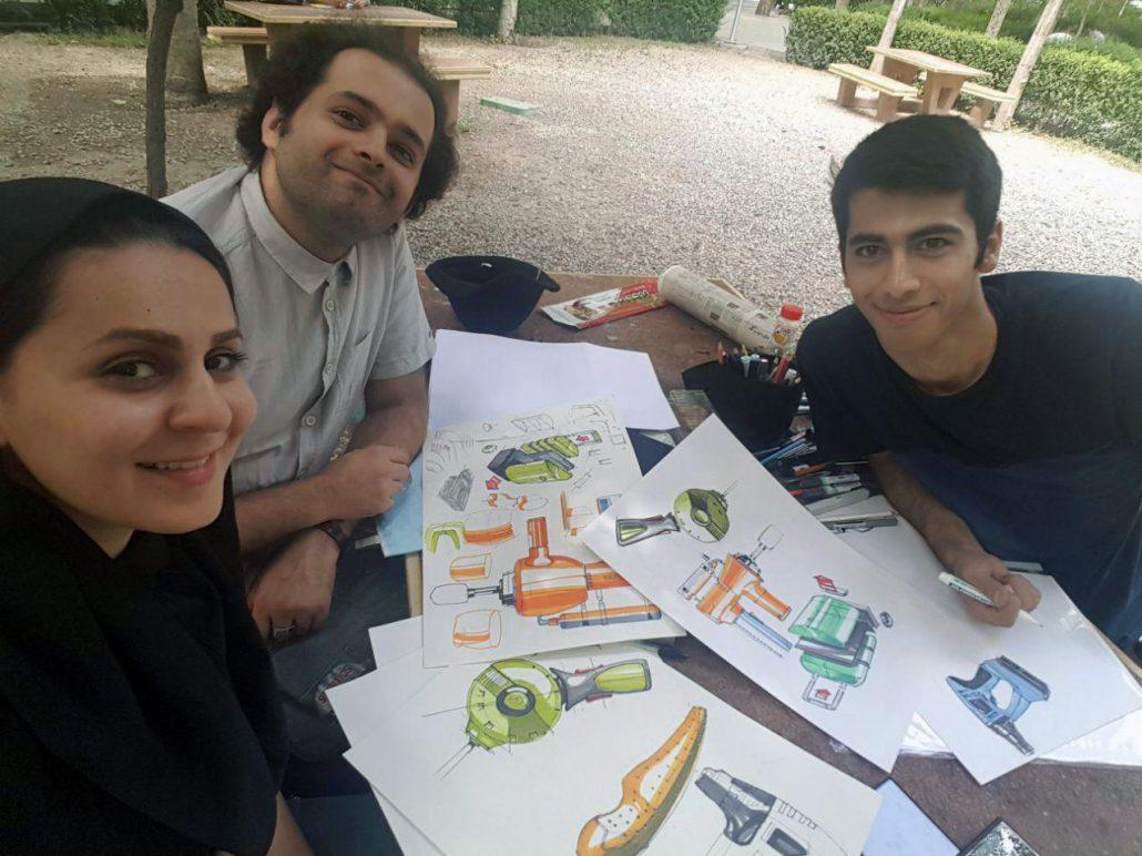 یاسر اکبری، توماج یوسفی، پرستو چاقری، تمرین طراحی